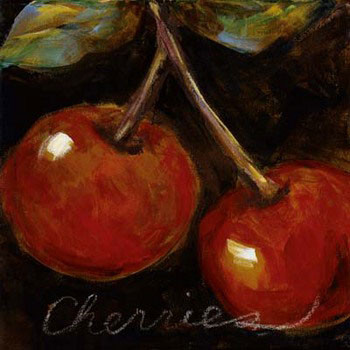 Ripe Cherries Festmény reprodukció