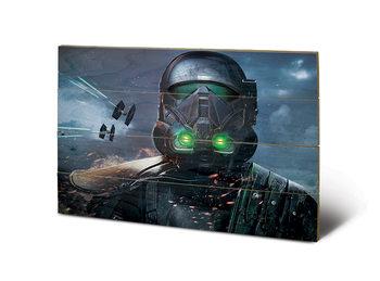 Poster su legno Rogue One: Star Wars Story - Death Trooper Glow