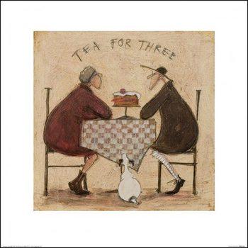 Sam Toft - Tea for Three 9 Festmény reprodukció