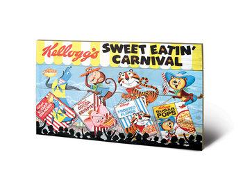 Vintage Kelloggs - Sweet Eatin' Carnival Land Schilderij op hout