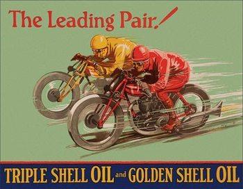 Shell - Winning Pair Metalen Wandplaat
