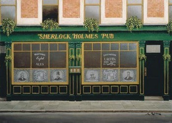 Sherlock Holmes Pub Festmény reprodukció