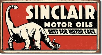 SINCLAIR DINOSAUR Metalen Wandplaat