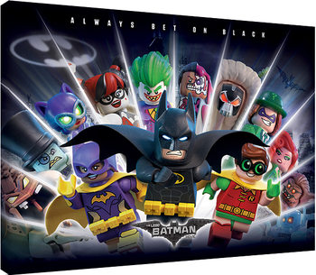 Stampa su Tela LEGO® Batman - Always Bet On Black