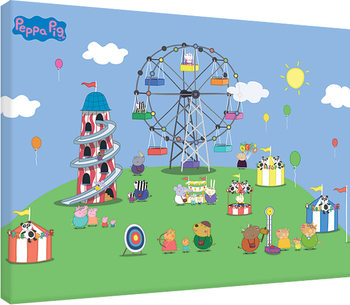 Stampa su Tela Peppa Pig - Fairground