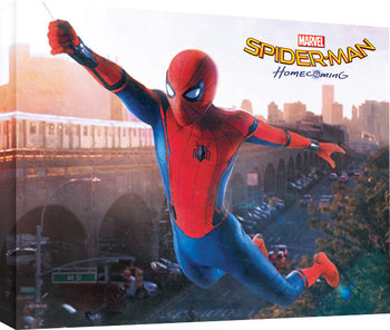 Stampa su Tela  Spider-Man Homecoming - Swing