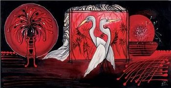 Incrocio d'ali bianche - Stampe d'arte