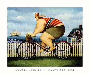 Mary\'s New Bike - Stampe d'arte