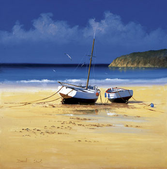 Moorings Low Tide - Stampe d'arte