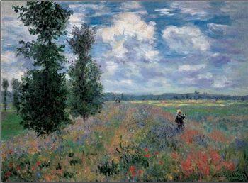 The Poppy Field in Summer near Argenteuil - Stampe d'arte