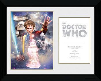 Doctor Who - 6th Doctor Colin Baker Poster encadré