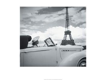 Femme au Volant Paris  Reproduction d'art