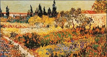Flowering Garden with Path, 1889 part.) Reproduction d'art