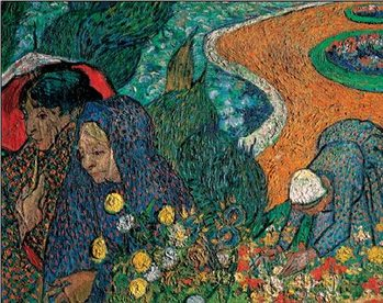Ladies of Arles - Memory of the Garden at Etten, 1888 Reproduction d'art