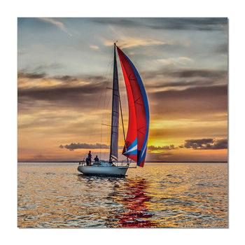 Sailing boat at sea Tableau Multi-Toiles
