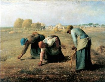 The Gleaners, 1857 Reproduction d'art