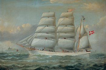 The Ship Claudia Reproduction d'art