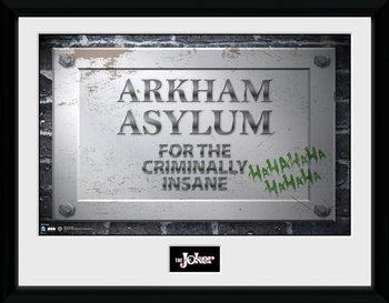 Batman Comic - Arkham Asylum Sign tablou Înrămat cu Geam