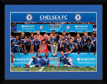 Chelsea - Premier League Winners 14/15 tablou Înrămat cu Geam