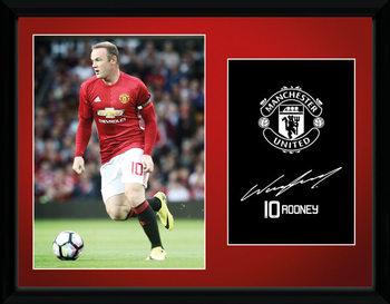 Manchester United - Rooney 16/17 tablou Înrămat cu Geam