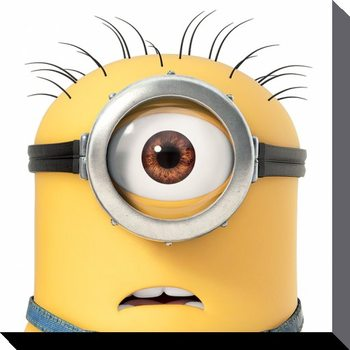 Minions (Despicable Me) - Carl Close Up Tablou Canvas