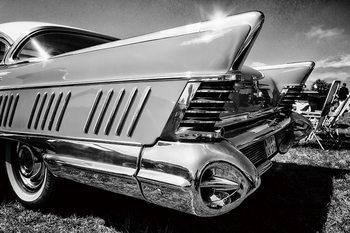 Tablouri pe sticla Cars - Black and White Cadillac