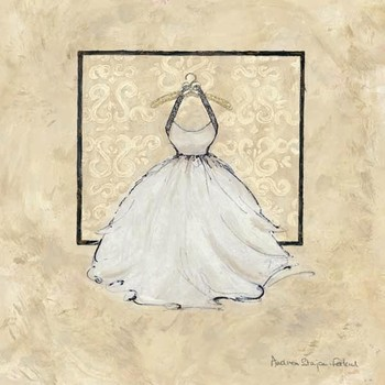 TAKE ME DANCING IV - white Festmény reprodukció
