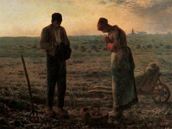 The Angelus - L'angelus Festmény reprodukció
