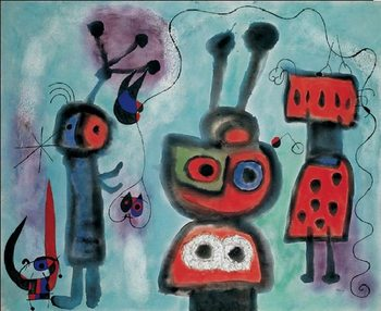 The Bird with a Calm Look Its Wings in Flames, 1952 Reproduction d'art