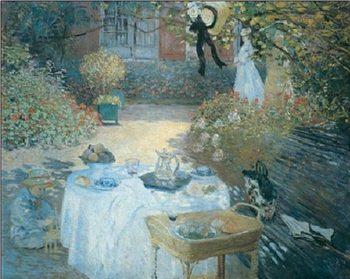 The Lunch (in the Garden), 1872 Festmény reprodukció