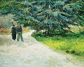 Public Garden with Couple and Blue Fir Tree - The Poet s Garden III, 1888 Tisak