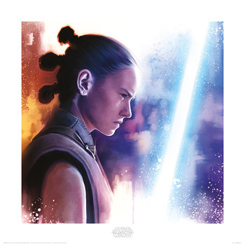 Star Wars The Last Jedi - Rey Lightsaber Paint Tisak