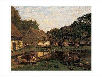 A Farmyard In Normandy Tisk