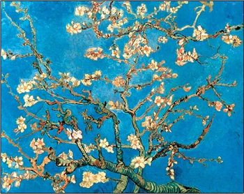 Almond Blossom - The Blossoming Almond Tree, 1890 Tisk