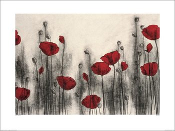 Hans Andkjaer - Red Poppies Reprodukcija