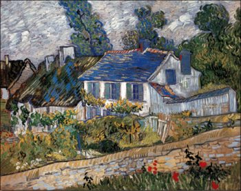 Houses in Auvers, 1890 Reprodukcija