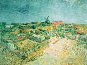Vegetable Gardens in Montmartre: La Butte Montmartre, 1887 Tisk