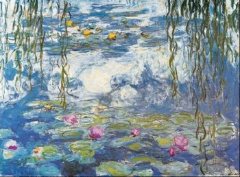 Water Lilies, 1916-1919 Tisk