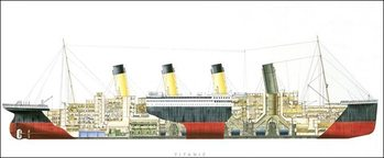 Titanic - Cutaway Reproduction d'art