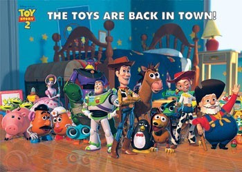 TOY STORY 2 - back in town - плакат (poster)