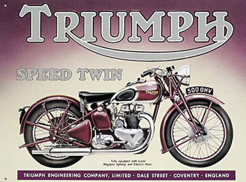 TRIUMPH SPEED TWIN Metalen Wandplaat