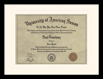 Better Call Saul - Diploma üveg keretes plakát