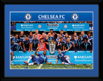Chelsea - Premier League Winners 14/15 üveg keretes plakát