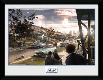 Fallout 4 - Sanctuary Hills Panic üveg keretes plakát