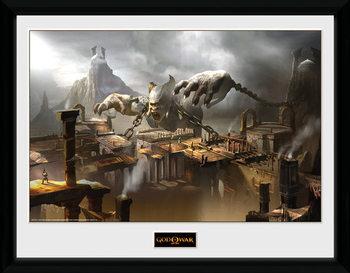 God of War - Concept Art Canyon üveg keretes plakát
