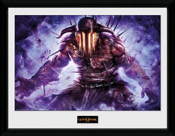 God of War - Hades üveg keretes plakát
