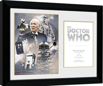 Doctor Who - 1st Doctor William Hartnell Uramljeni poster