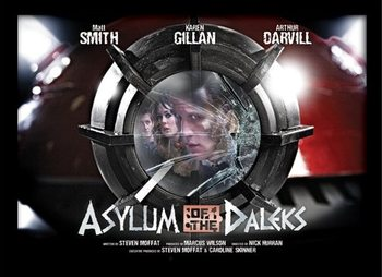 DOCTOR WHO - asylum of daleks uokvireni plakat - pleksi