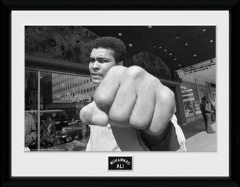 Muhammad Ali - Fist uokvireni plakat - pleksi
