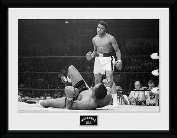 Muhammad Ali - Liston 2 uokvireni plakat - pleksi